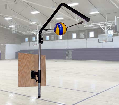 Volleyball Spike Trainer VST-400 for Permanent Wall Mount Installation in Junior and High School Gyms and Volleyball Club Training Facilities. Perfect your Volleyball hitting technique using the most cost-effective and durable Volleyball Spike Trainer on the market. Work on your Volleyball footwork, Volleyball Approach, Jump Technique, Volleyball Arm Swing, and Volleyball Contact.